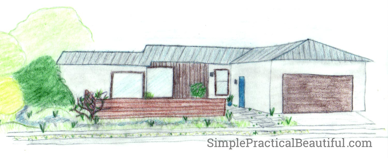 a drawing of what I want our house to look like