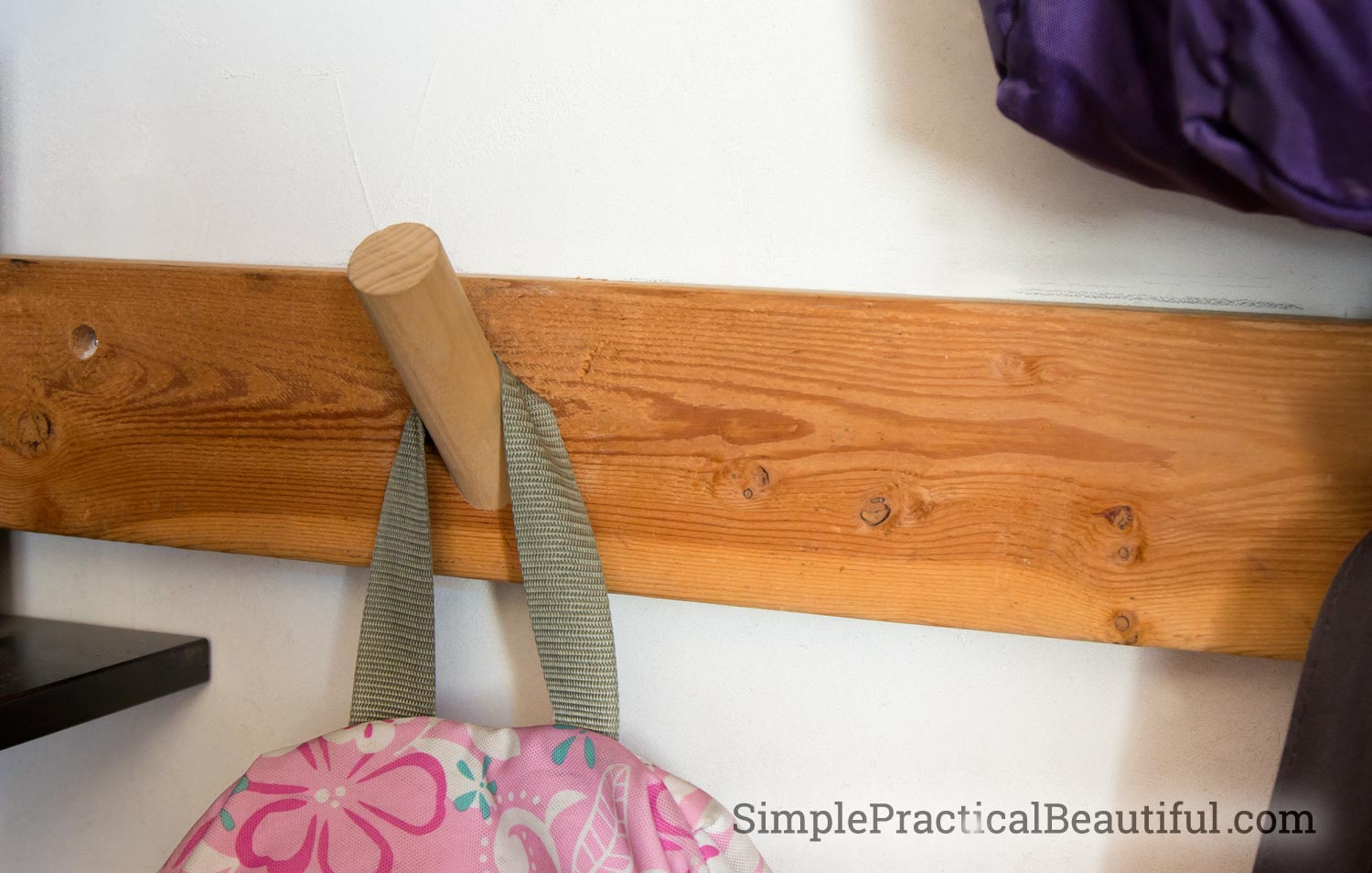 Backpack hook | SimplePracticalBeautiful.com