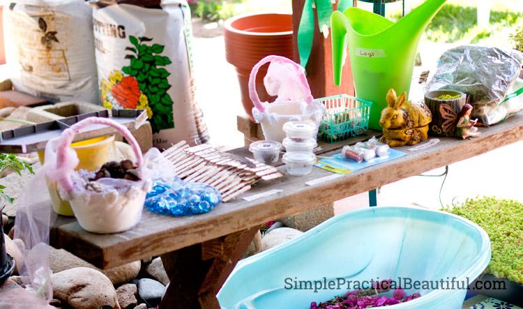 Supplies to make incredible fairy gardens, and even have a fairy garden party