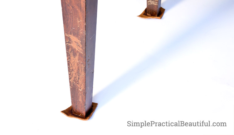 Make your own leather furniture pads