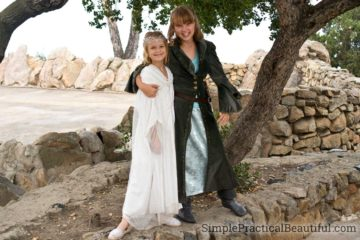 Arwen and Galadriel costumes from The Lord of the Rings