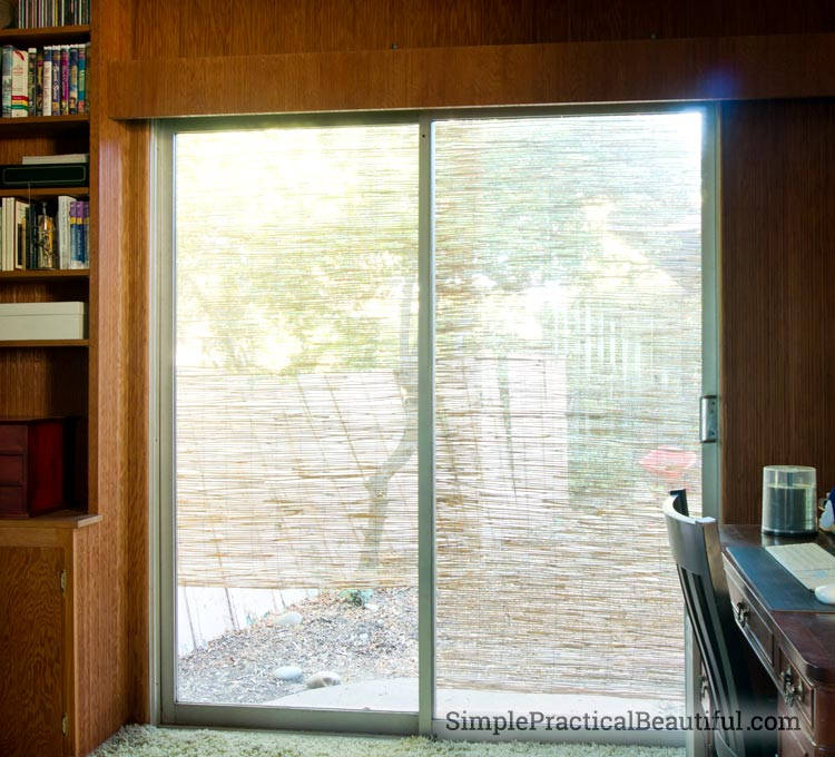 diy bamboo window shade