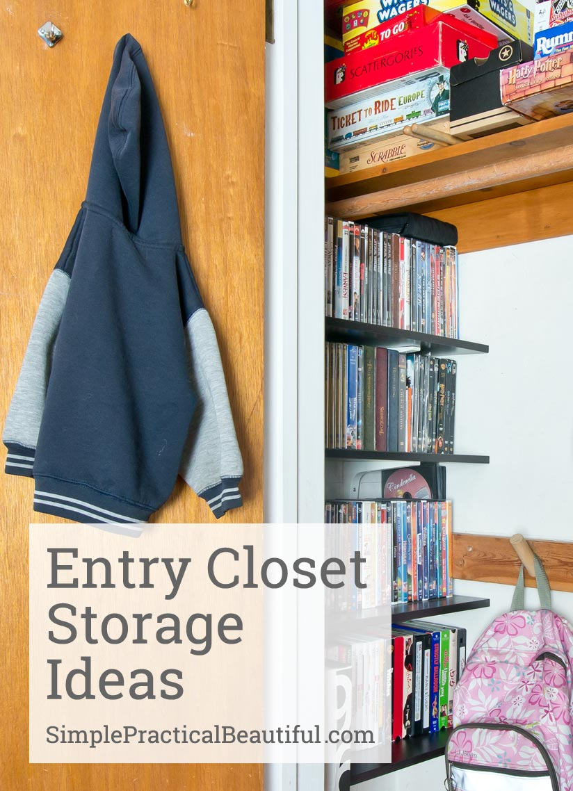Entry Closet Storage Ideas | SimplePracticalBeautiful.com