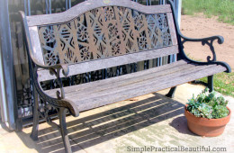 How to Reinforce on Old Park Bench   SimplePracticalBeautiful.com