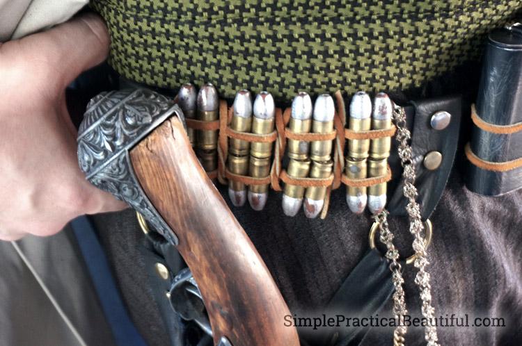 gentlemen's steampunk costume silver bullets