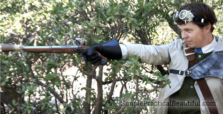 gentlemen's steampunk costume gun