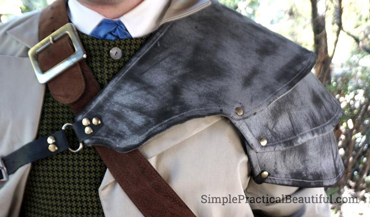 gentlemen's steampunk costume pauldron