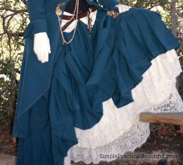 Steampunk Costume petticoat