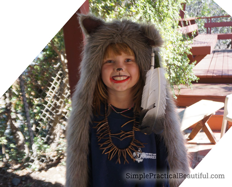 Stylish DIY werewolf costume
