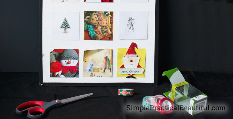Decorating an activity advent calendar