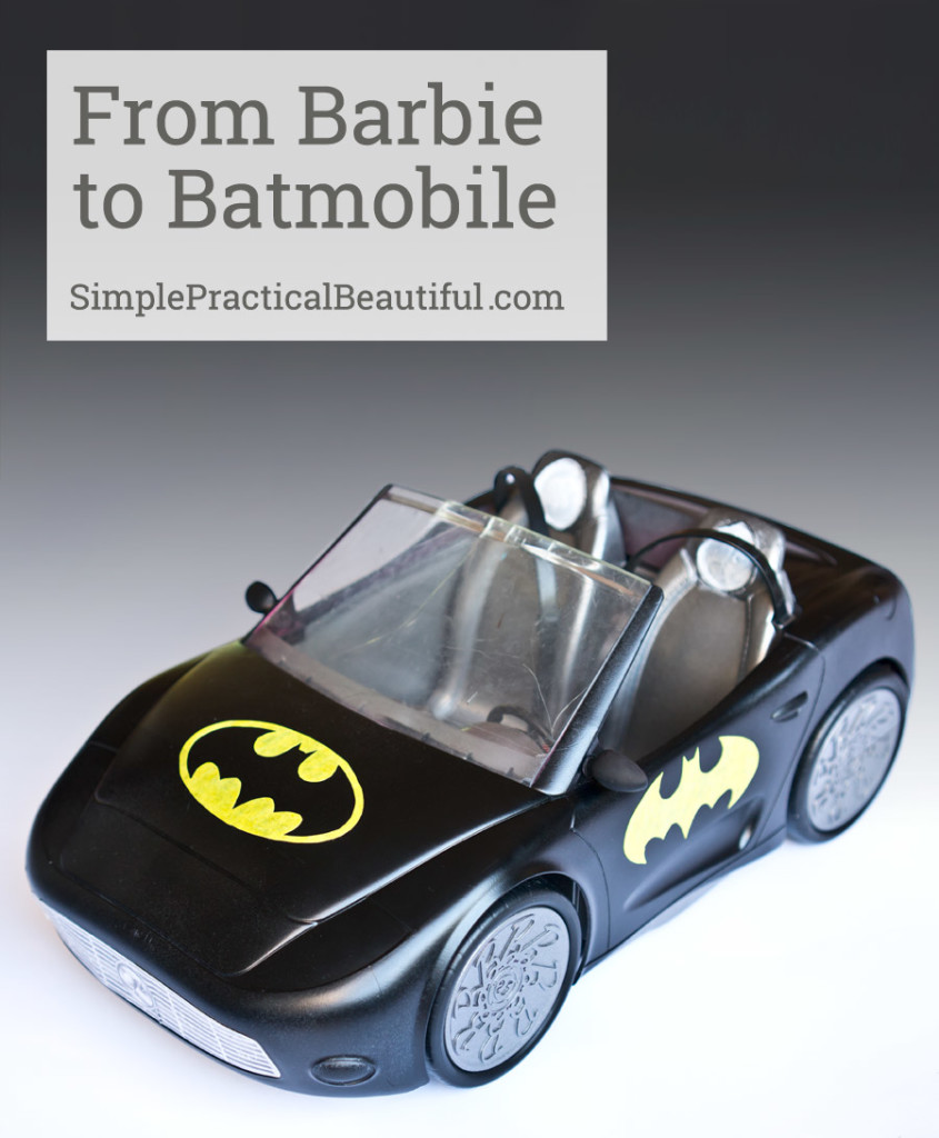 How to turn a Barbie car into a Batmobile