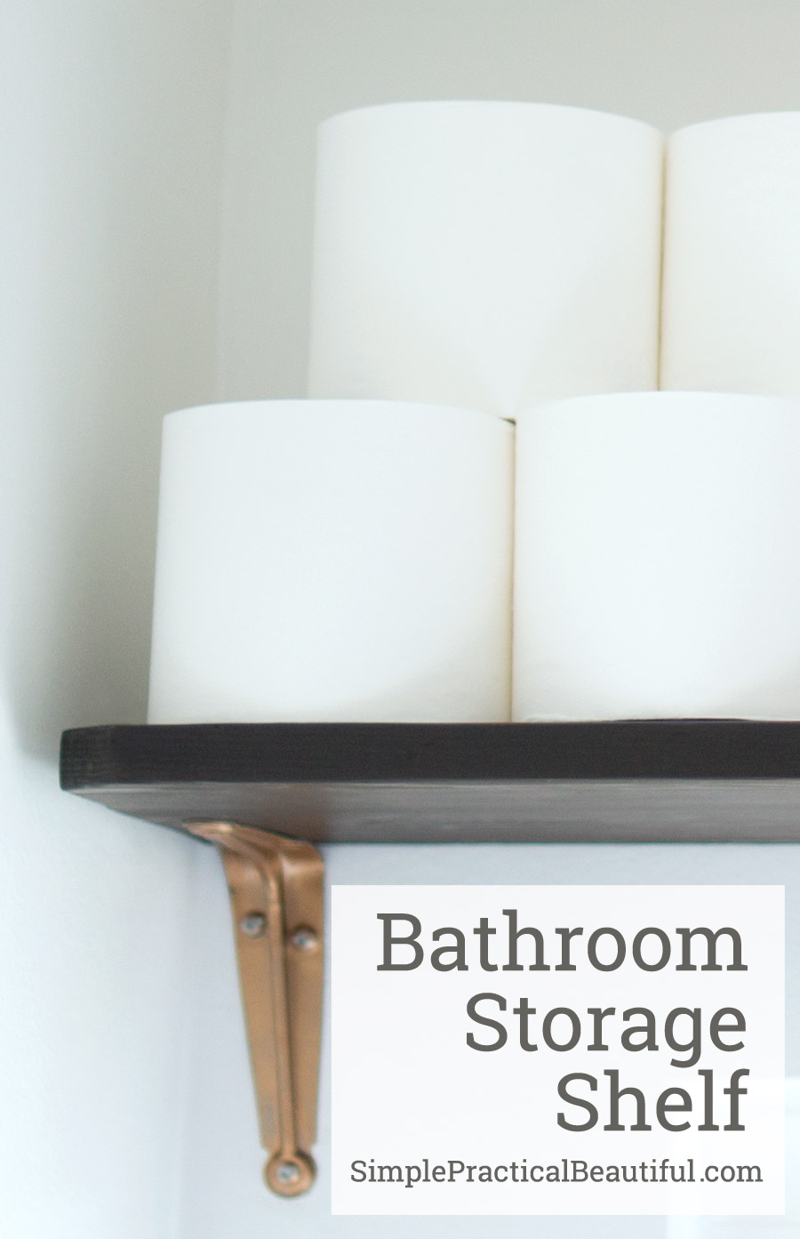 Install a storage shelf in your bathroom to keep all those necessity out of the way but within reach