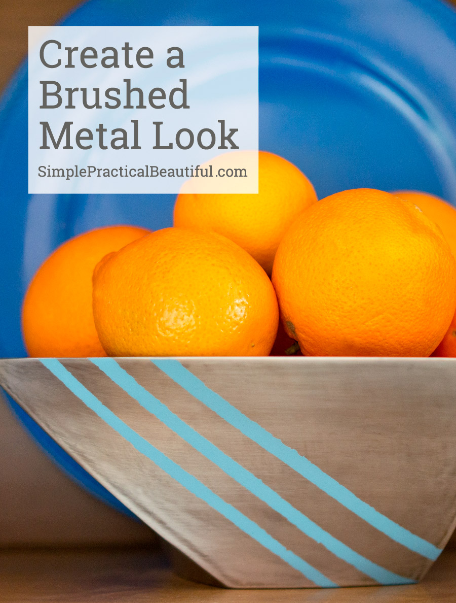 How to DIY a brushed look on a metal bowl