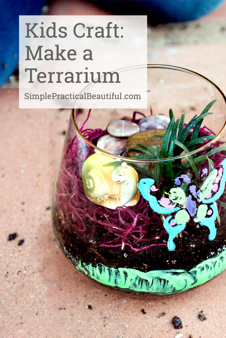 Making a terrarium is the perfect craft for kids to make.