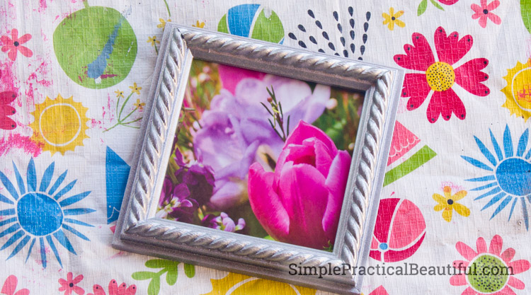 A finished frame with flowers