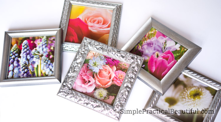 A finished frames with flowers
