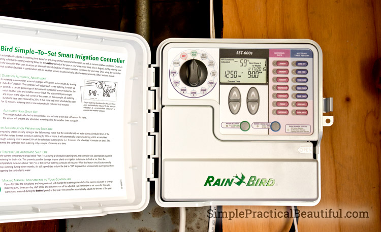 An irrigation timer makes watering plants easy and convenient