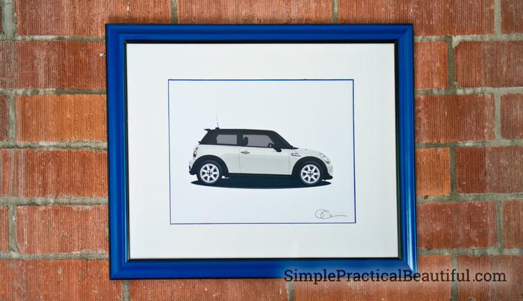 car-custom-illustration-framed