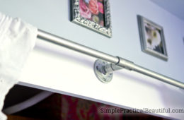 PVC pipe and fitting make great industrial closet hardware and at a much cheaper price than galvanized pipes