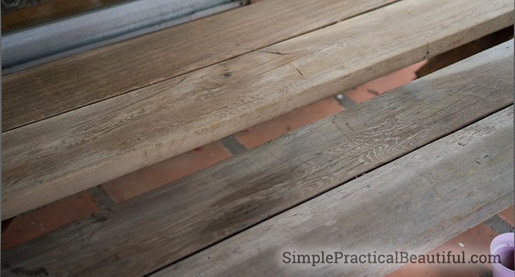 The secret to making old, grey wood look new and clean again
