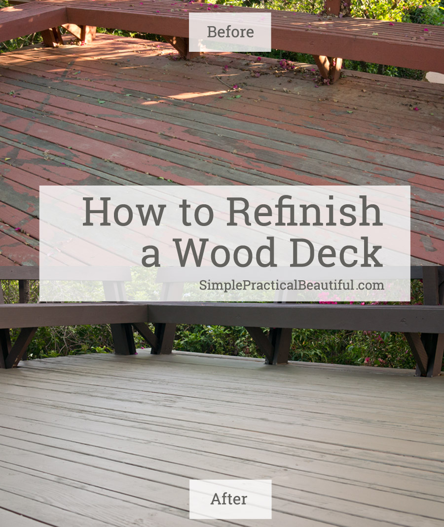 How to restore an old or neglected wood deck