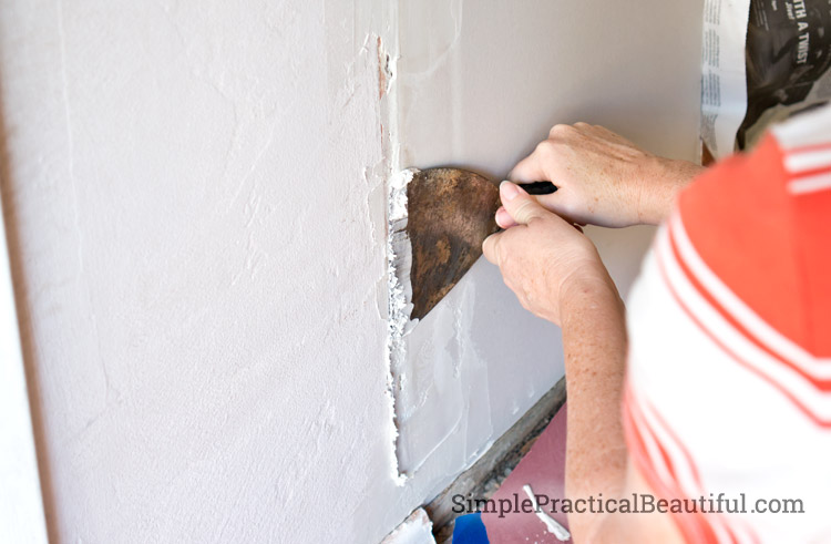 Installing and mudding dry wall - DIY home improvement project