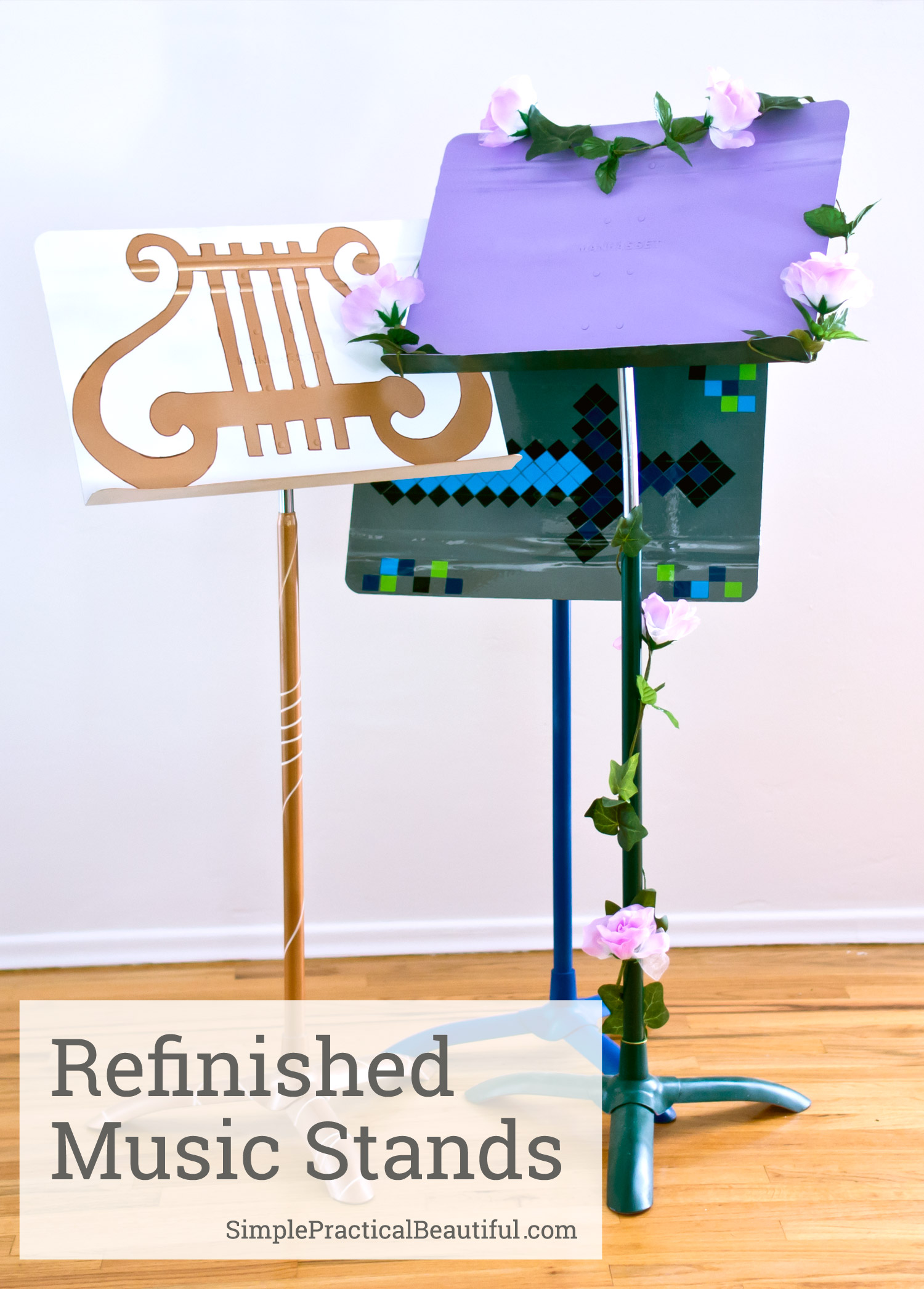 How to refinish a music stand. With some paint and a little creativity, any musician can do this DIY project.