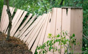 Our goal is to replace the side fence that is falling down