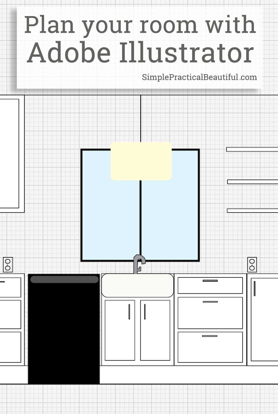 use adobe illustrator to plan a room layout - simple practical