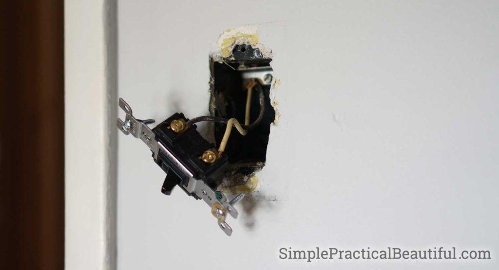 DIY Star Wars boy's room | chalkboard door | Darth Vader light switch | record clock | Star Wars nursery ideas