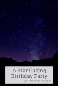 A star gazing birthday party with constellation activities, glow stick fun, a galaxy cake, and nighttime fun. Perfect birthday idea for teens or tweens