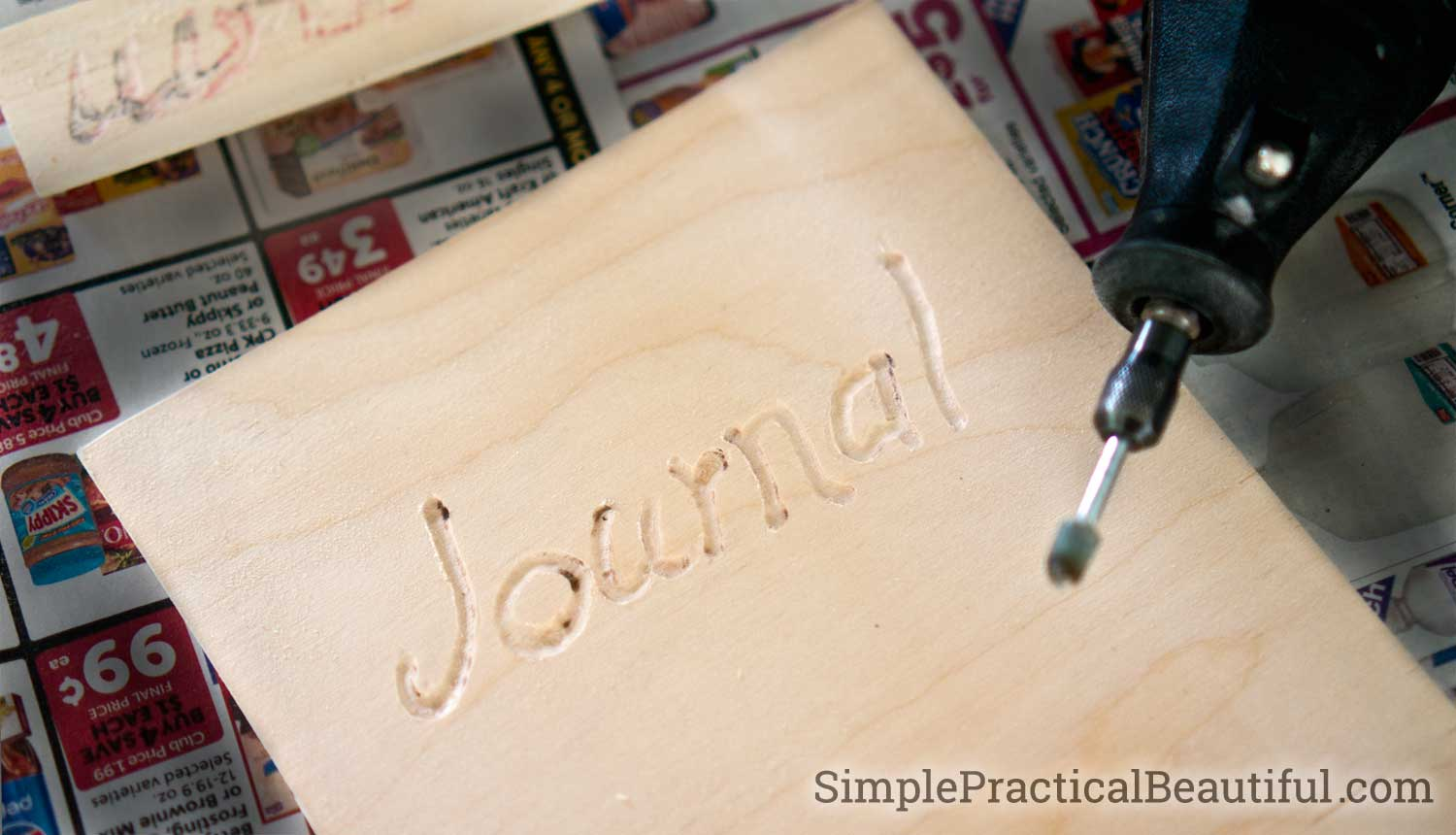 How to make a personalized wood journal   Use thin plywood to make the cover for a custom notebook   handmade crafts