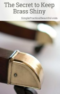 The secret to keeping brass shiny and never polishing again