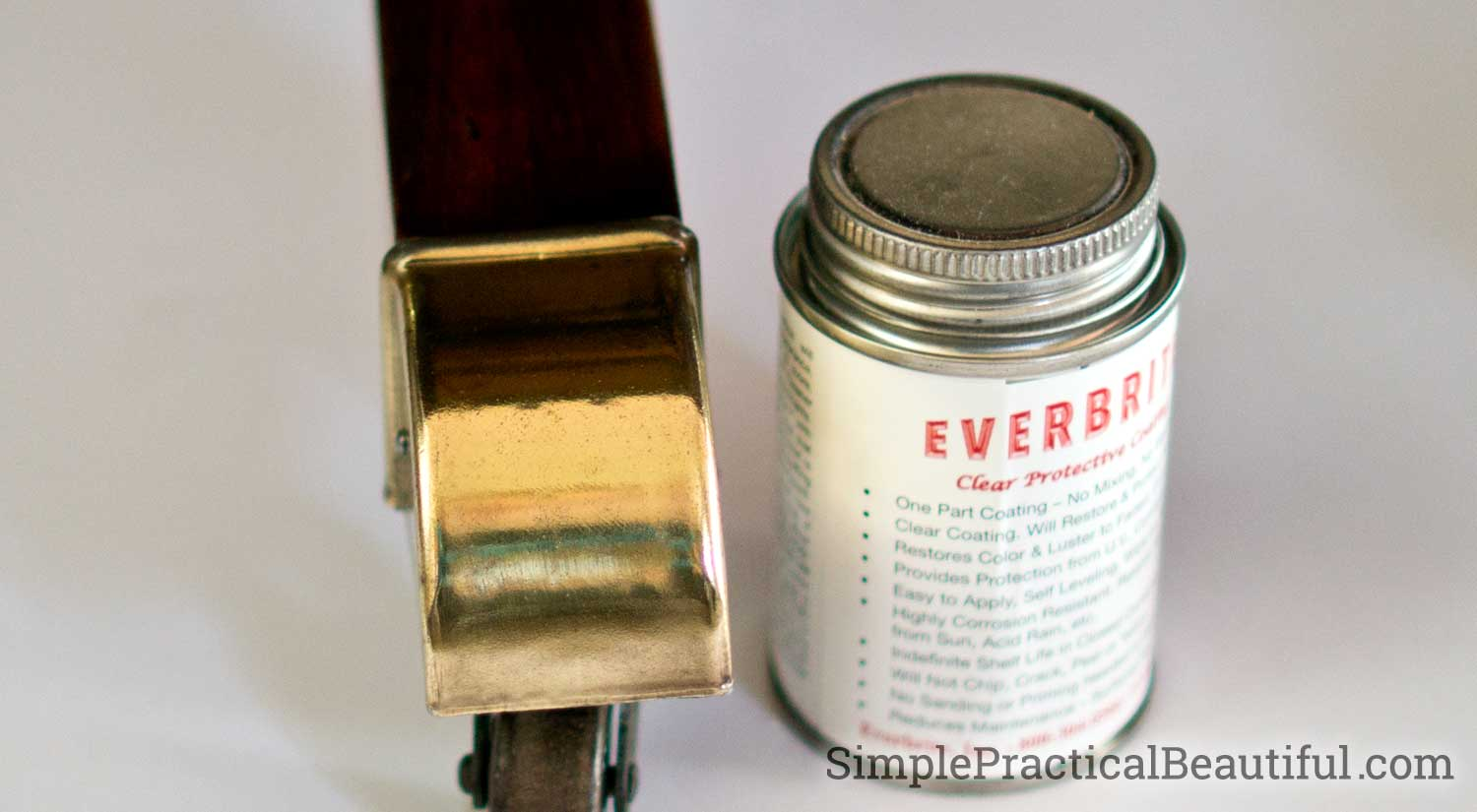 An application Everbrite ProtectaClear will keep brass shiny, other metals too