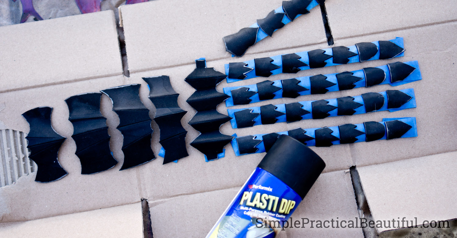 Paint foam with PlastiDip to seal the foam and so that other paint with adhere to it