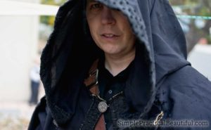 Hood detail for the Nazgul costume LOTR