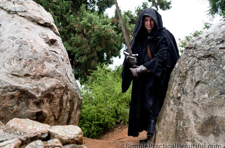 A Ringwraith or Nazgul costume from The Lord of the Ring perfect for cosplay