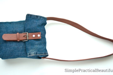 Repurpose an old pair of jeans and a worn out belt into a jean purse | upcycled jeans bag | reuse old clothes
