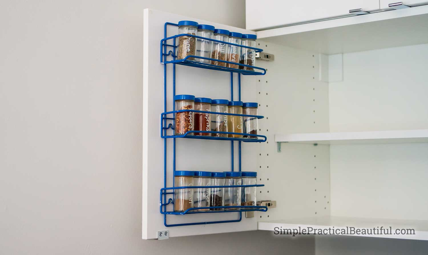 How To Add A Spice Rack To An Ikea Cabinet Door Simple
