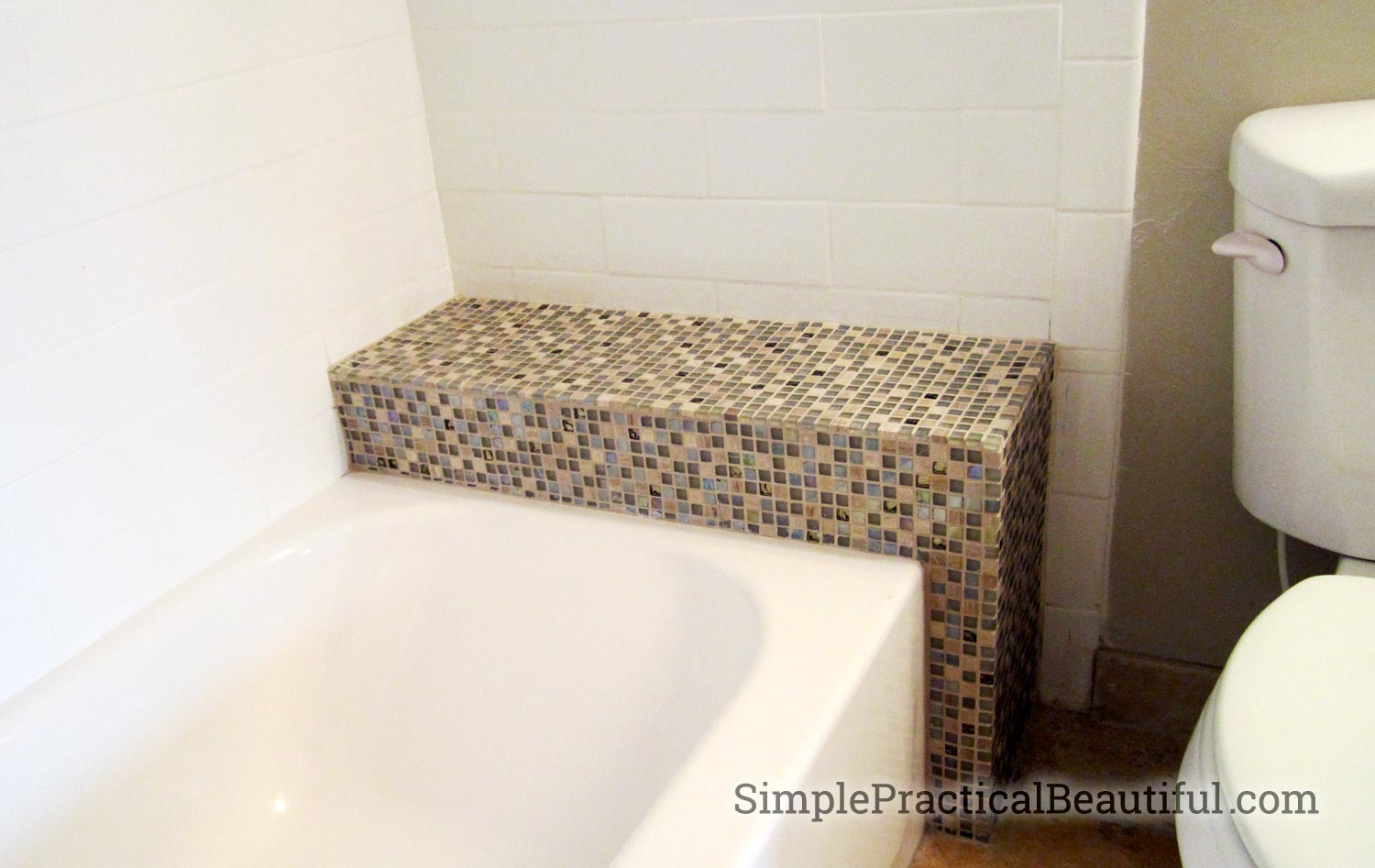1-inch tiles makes a statement