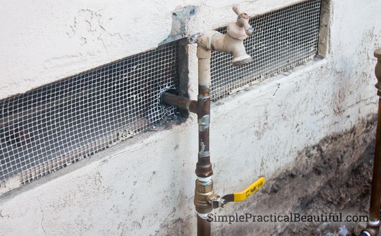 Install a shut-off valve before putting in your sprinkler system or valves