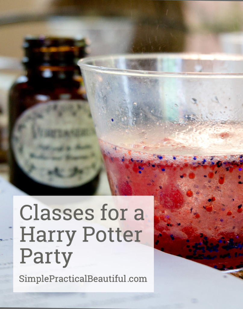Hogwarts class games, activities, and ideas for a Harry Potter party perfects for a kid, tween, or teen birthday