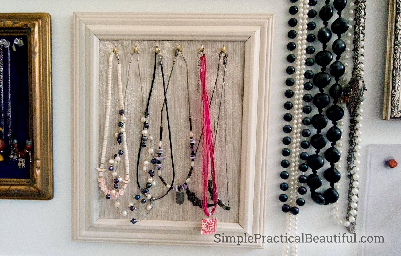 hooks holding necklaces