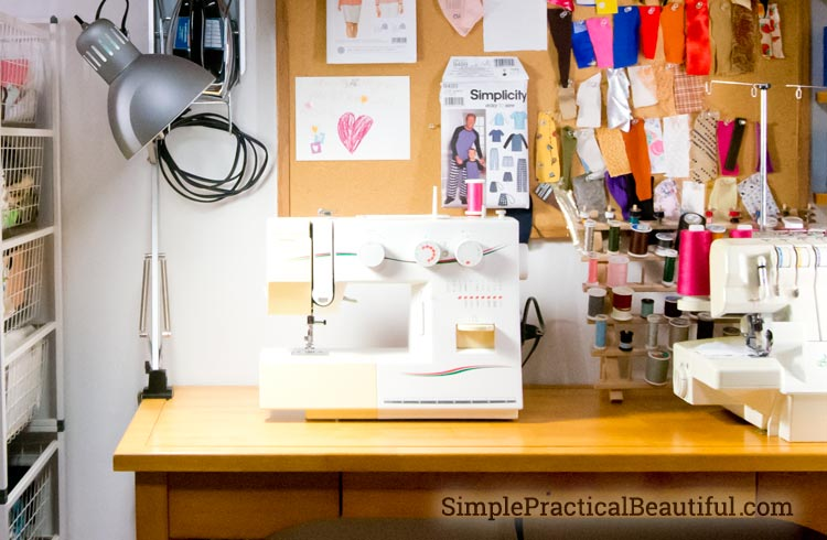 My Sewing Closet Lighting Simple Practical Beautiful