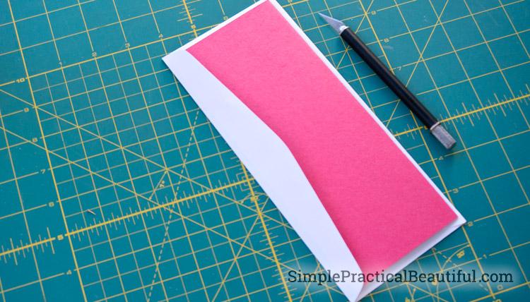 Make your Valentine card fit it's envelope