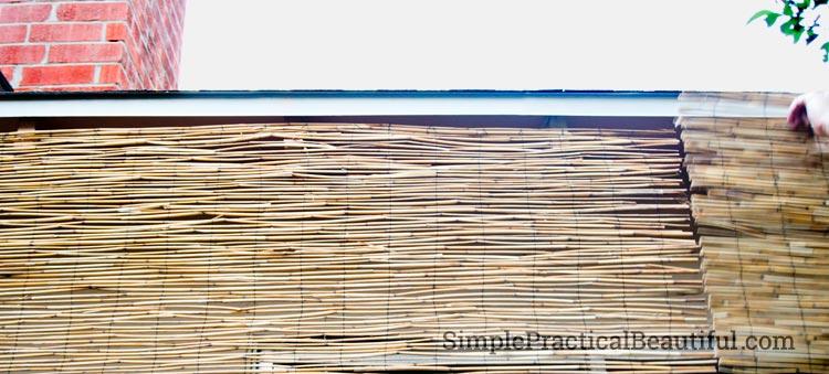 DIY Bamboo window shade | SimplePracticalBeautiful.com