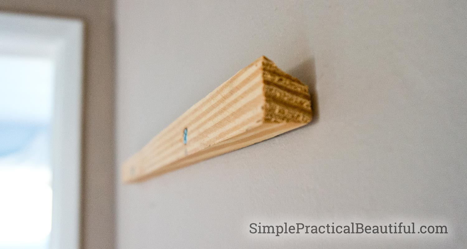 How to hang art with a french cleat | SimplePractialBeautiful.com