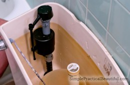 Fix a leaky toilet valve | SimplePracticalBeautiful.com