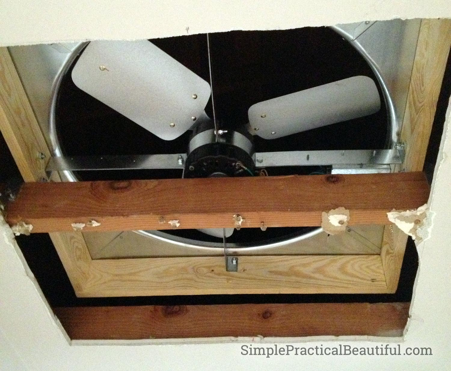 DIY Whole House Fan | SimplePracticalBeautiful.com