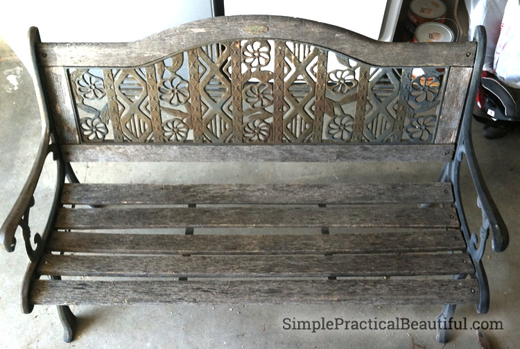 How to Reinforce on Old Park Bench | SimplePracticalBeautiful.com